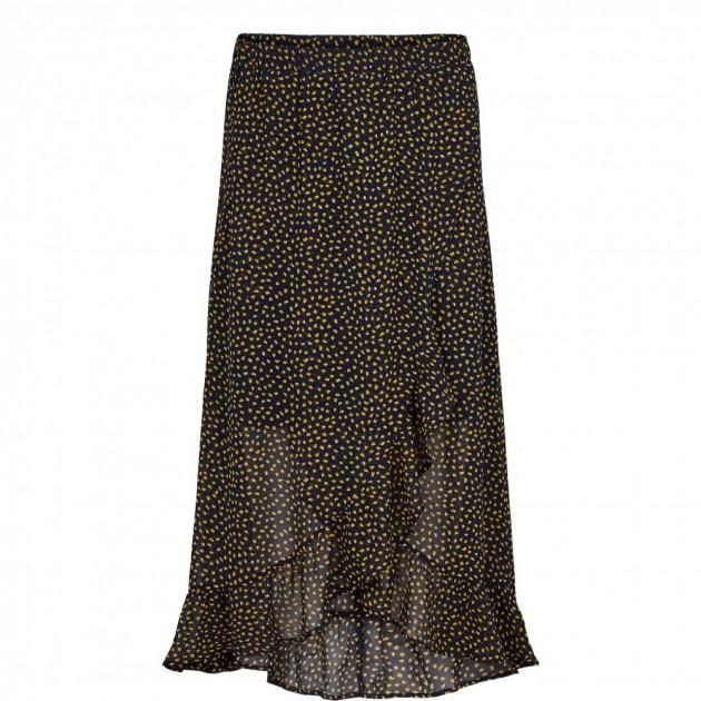 Just Female Image Maxi Wrap Dress Green Dot | AD UNDAS