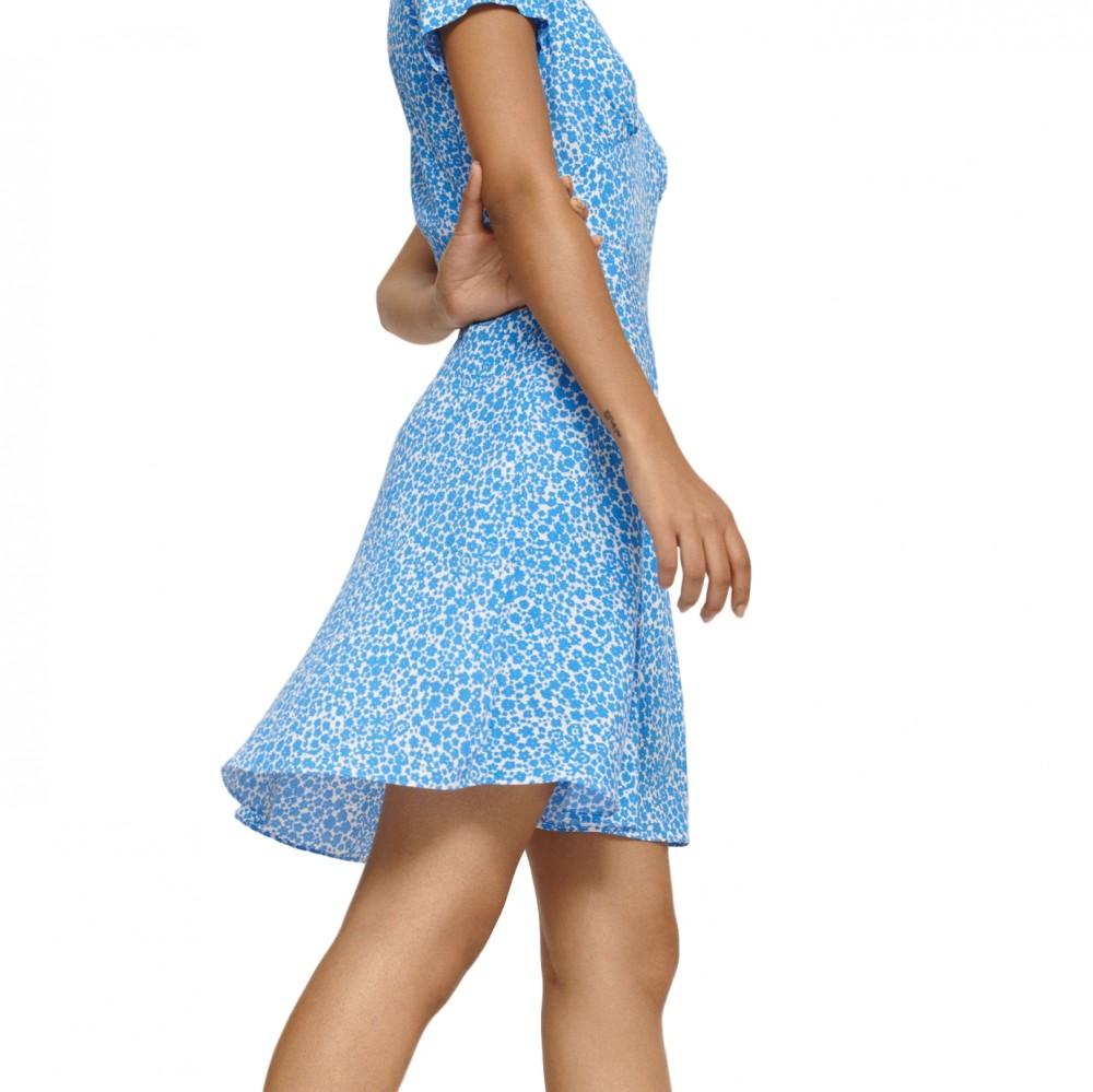 Samsøe & Samsøe kjole Cindy dress LS, Blue Aster