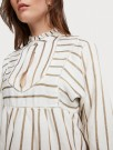 Maison Scotch - Metallic Striped Tunic With Ladder Tapes - Off-White  thumbnail