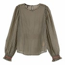 Maison Scotch - Printed Sheer Top With Smocking Details thumbnail