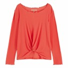 Maison Scotch - Long Sleeve Top With Knot - Rød thumbnail