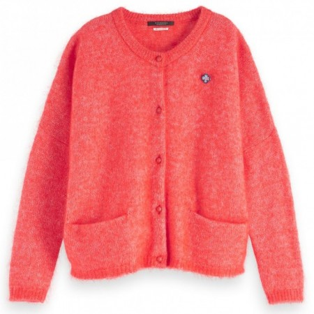 Maison Scotch - Chunky Cardigan - Rød