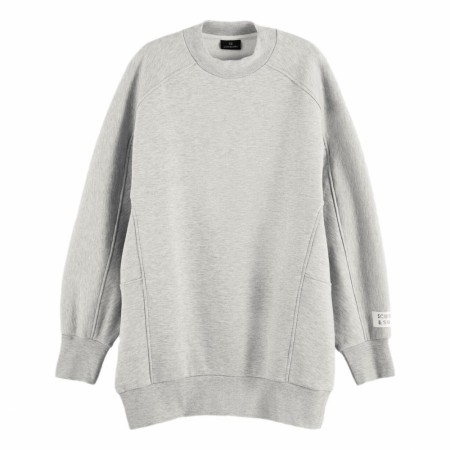 Maison Scotch - Longer Length Special Shaped Sweat - Light Grey Mel.