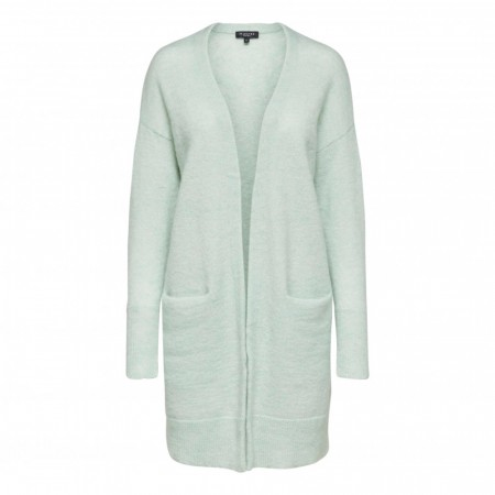 Selected Femme - Slflivana Ls Knit Cuff Cardigan - Spray