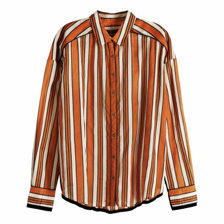Maison Scotch - Boxy Fit Allover Printed Viscose Mix Shirt - Oransje