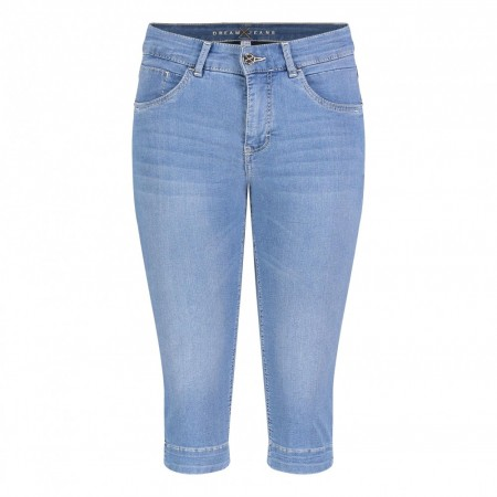 Mac Mode -  Dream Capri - Light Mid Blue Denim