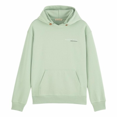Maison Scotch - Unisex Hoody In Organic Cotton - Pistasj