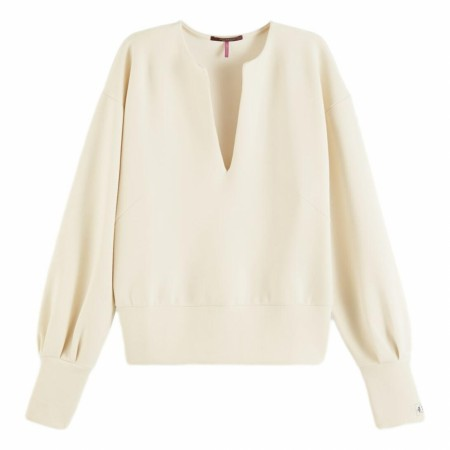 Maison Scotch - Soft Sweat With Open Neck - Ecru