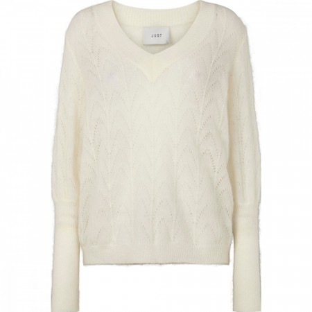 Just Female - Teri Knit - Off White