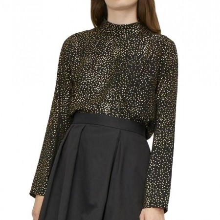 Just - Goldy Blouse - Gold Dot aop