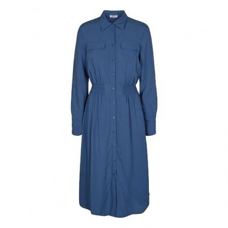 MSCH - Caddy Beach Ls Shirt Dress - Blue Horizon