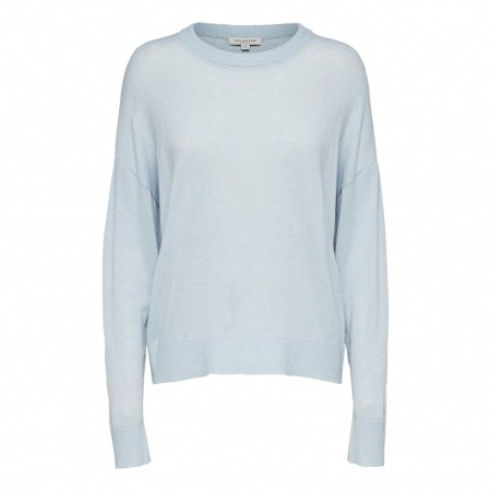Selected Femme - Slfmina Ls Knit O-neck W - Plein Air