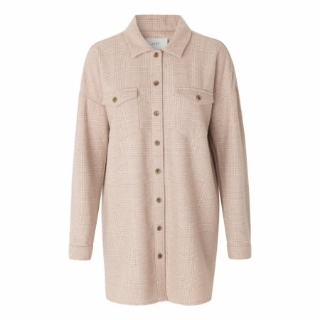 JUST - Pearl Long Shirt - Creme Check