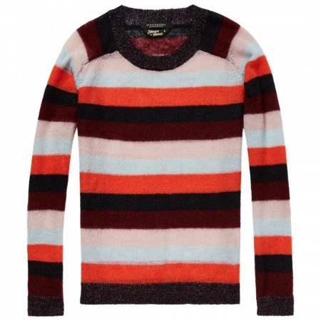 Maison Scotch - Striped Mohair Pullover - Striper