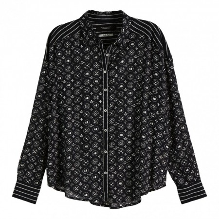 Maison Scotch -  Allover Printed Viscose Mi Shirt - Sort