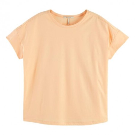 Maison Scotch - Basic Mercerised Tee - Peach