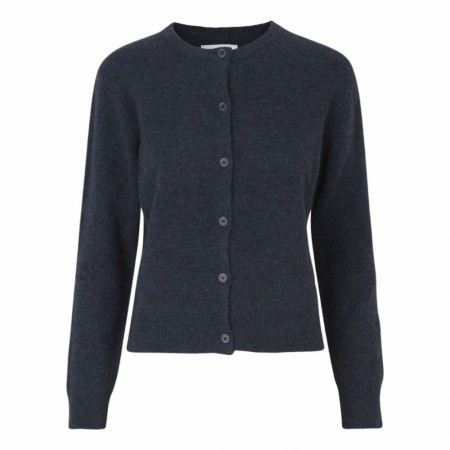 Samsøe Samsøe - Nor Short Cardigan - Dark Blue Mel.