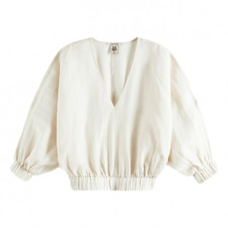 Maison Scotch - Top With Voluminous Sleeve And Elasticated Waistband