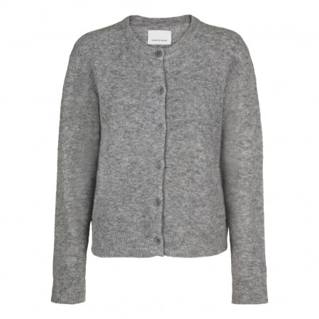 Samsøe & Samsøe - Nor Short Cardigan - Grey Mel.