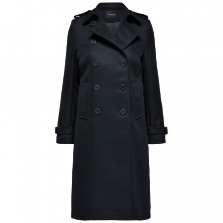 Selected Femme - Slftona Wool Coat B - Black