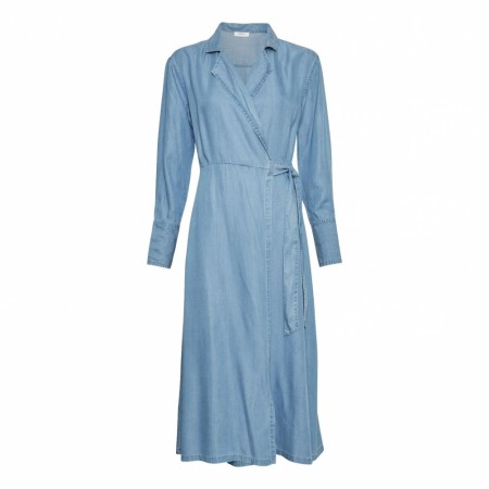 MSCH - Philippa Ls Wrap Dress - Light Blue Denim