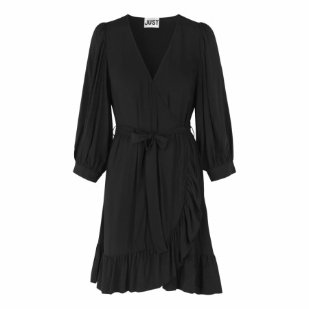JUST - Ellery Wrap Dress - Black