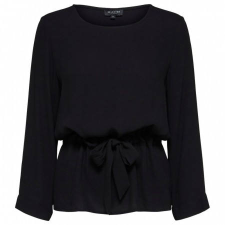 Selected Femme - Slftanna 7/8 Top B - Black