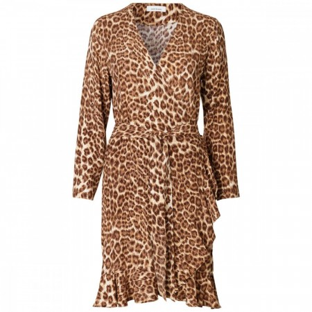 Samsøe & Samsøe - Limon ls dress aop 6515 - Leopard
