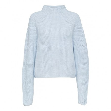 Selected Femme -  Slfbandani Ls Knit Highneck - Plein Air
