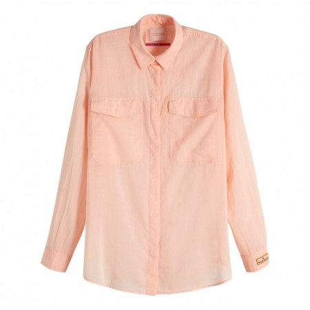 Maison Scotch - Cotton Button Up Shirt - Fersken