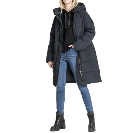 Lee Jeans - Long Puffer Jacket - Black