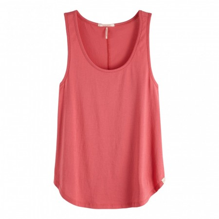Maison Scotch - Basic Tank Top In Prints And Solids - Rosa