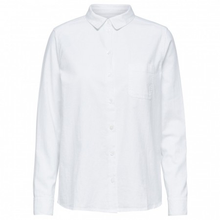 Selected Femmev - Slfkea Ls Shirt W - Bright White