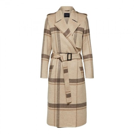 Selected Femme - Slftana Check Coat - Ruter