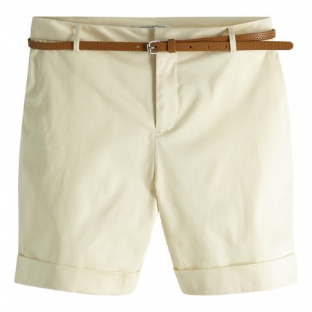 Maison Scotch - Longer Lenght Mercerised Chino Shorts - Lys Beige