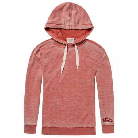 Maison Scotch - Burnout Hoody - Terra Cotta