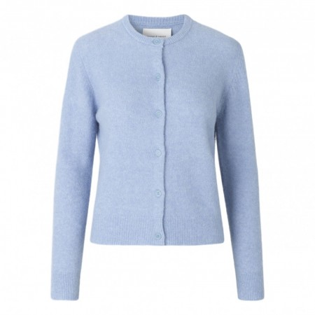Samsøe & Samsøer -  Nor Short Cardigan - Bel Air Blue