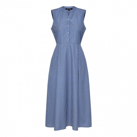 Selected Femme - Slfalthea Sl Midi Dress Ex - Snow White/ Blue