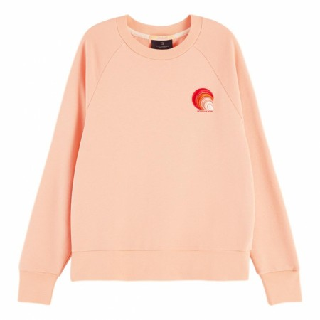Maison Scotch - Sweat With Various Artworks - Coral Rock