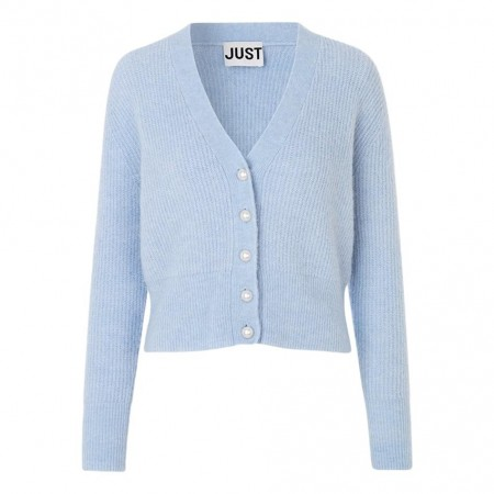 JUST - Rebelo Pearl Cardigan  - Xenon Blue