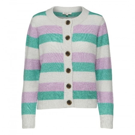Selected Femme - Slfsia Ls Knit Cardigan - Orchid Bouquet/ Gumdrop