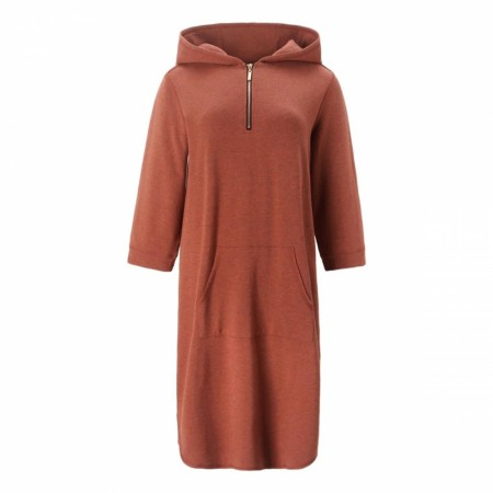 Close To My Heart - Babe Hood Dress - Rust