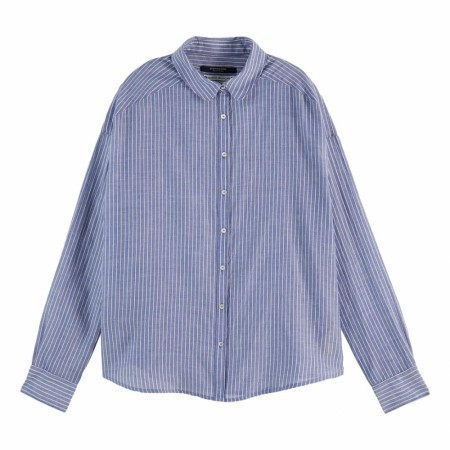 Maison Scotch - Striped Cotton Shirt With Round Collar - Stripe