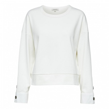Selected Femme - Slfalli Ls Sweat W - Snow White