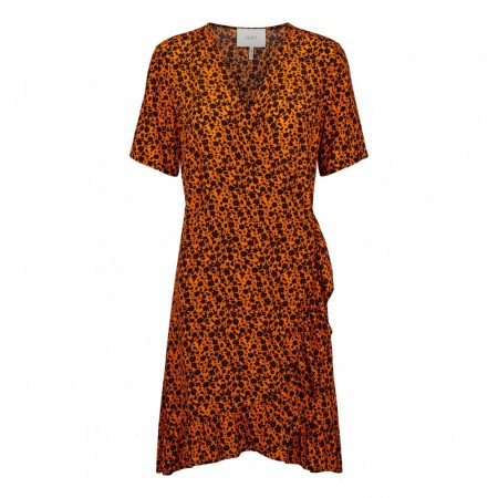 Just Female - Kari Wrap Dress - Orange Flower