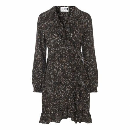 JUST - Imogene Wrap Dress - Imogene Dot