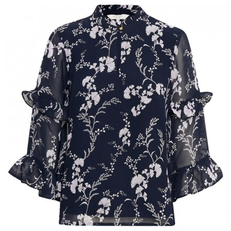 Part Two - Neima Blouse - Artwork Dark Blue