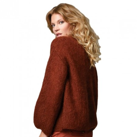 Close To My Heart - Angie Cardigan - Rust
