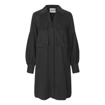 JUST- Diaz Shirt Dress - Sort