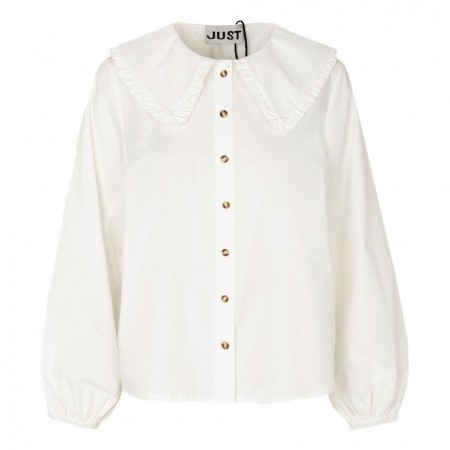 JUST - Ease Frill Shirt - White